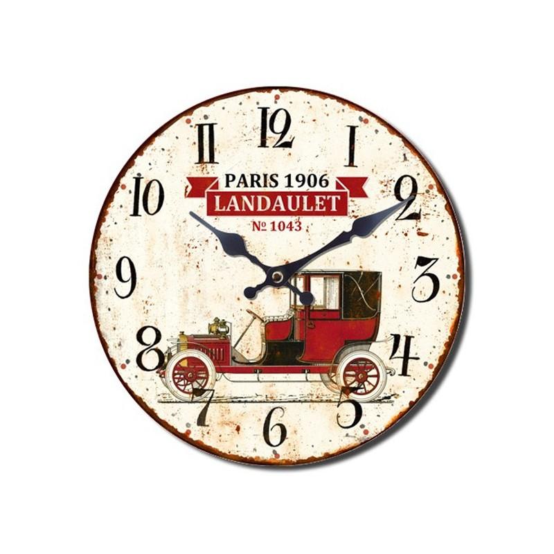 Reloj pared coche retro rgala for Reloj pared retro