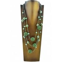 cef9c5ef28db Colgante Collar Bolas Verdes Colgante Collar Bolas Verdes