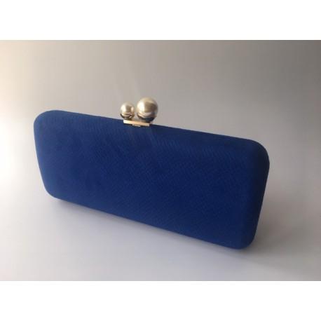 Bolso Fiesta Azul Perlas
