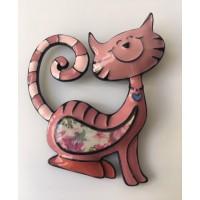 Broche Gato Rosa