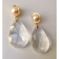 Pendientes Cristal Dorado