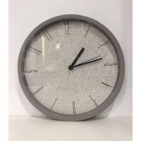 Reloj Pared Lino Gris