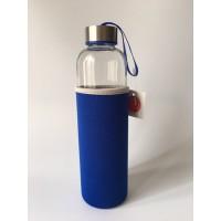 Botella Cristal Azul