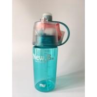 Botella Agua Spray Azul