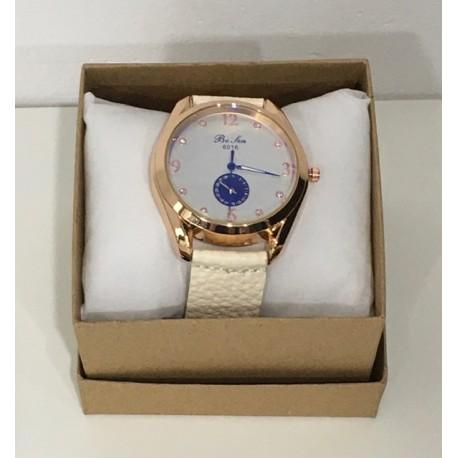Reloj Piel Blanco