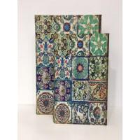 Caja Libro Seda Verde