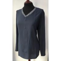 Camiseta Azul Plata