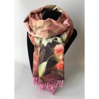 Bufanda Pañuelo Rosas