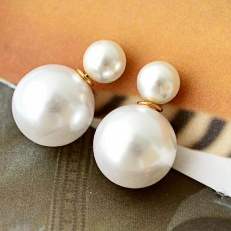 Pendientes Perla Blanca