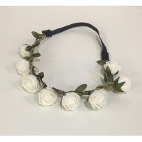 Diadema Rosa Blanca