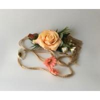 Cinturón Rafia Flor