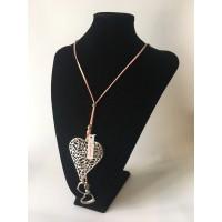 Collar Corazón Rosa