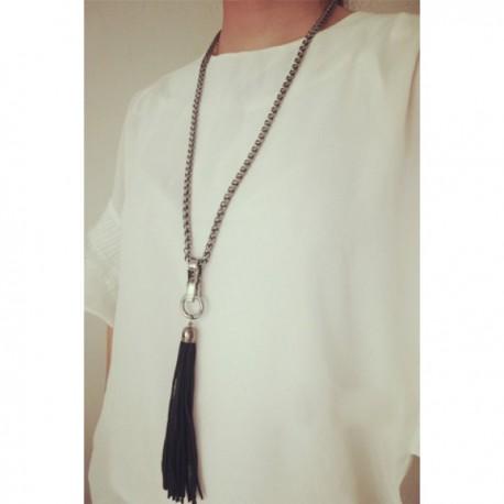 Collar Flecos Negro