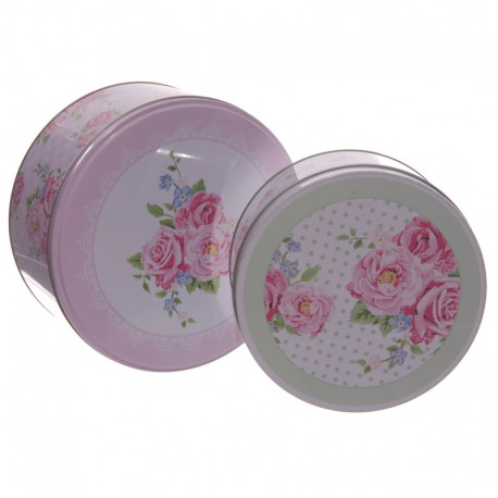 Caja Metal Rosas XL
