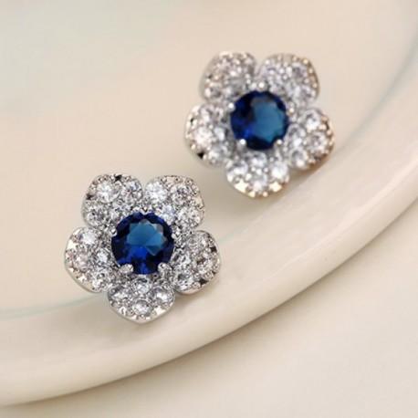 Pendientes Flor Azul