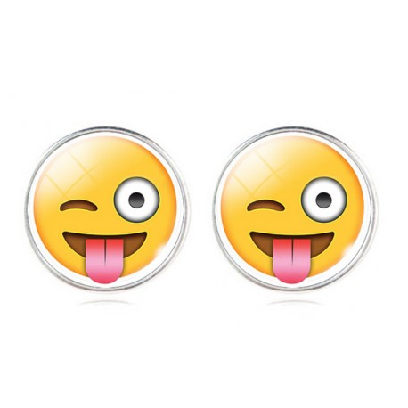 Pendientes Emoticono Guiño