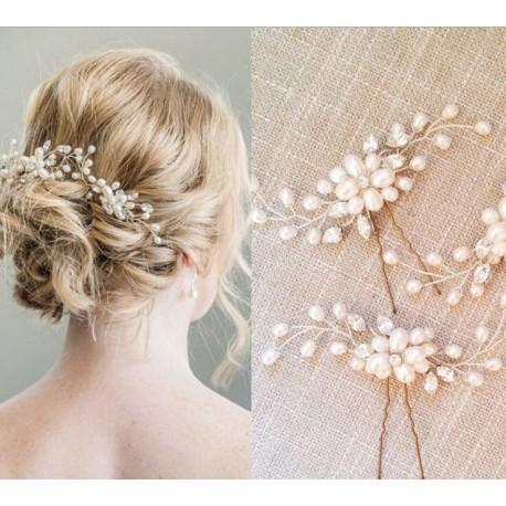 Horquilla Moño Perlas