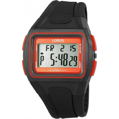 Reloj Deportivo Negro Y Rojo