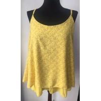 Camisa Blusa Flores Amarillas