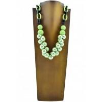 Collar Algodón Verde