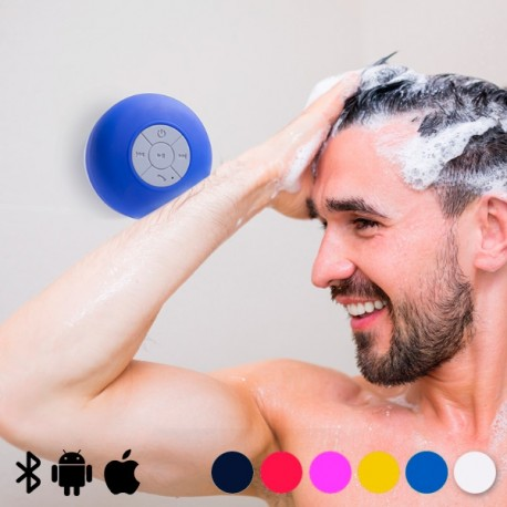 Altavoz Bluetooth De Ducha Color Azul